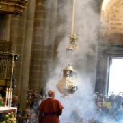 Le botafumeiro de la cathédrale de St Jacques de Compostelle